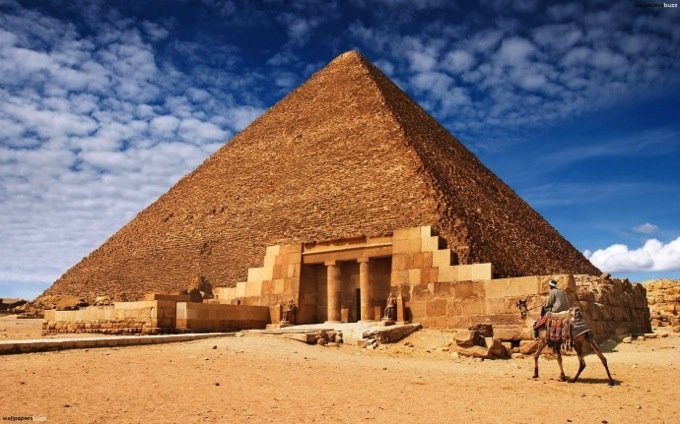 Pyramid Blue Sky 690x431